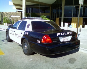 police car palm springs