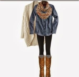 1bvwtr-l-610x610-shirt-sweater-cardigan-boots-leggings-denim-shirt-denim-fall-autumn-winter-december-november-october-scarf-leg-warmers-high-socks-shoes[1]